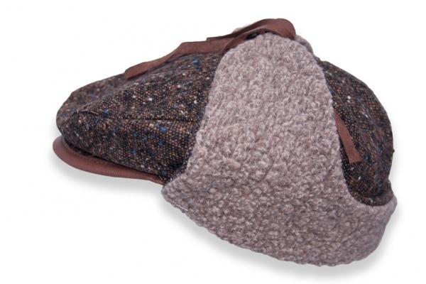 Drivers Cap - Tweed Wool Brown