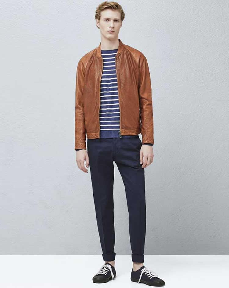 Leather-Bomber-Breton-Chinos