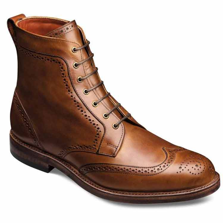 Wingtip Leather Dress Boots