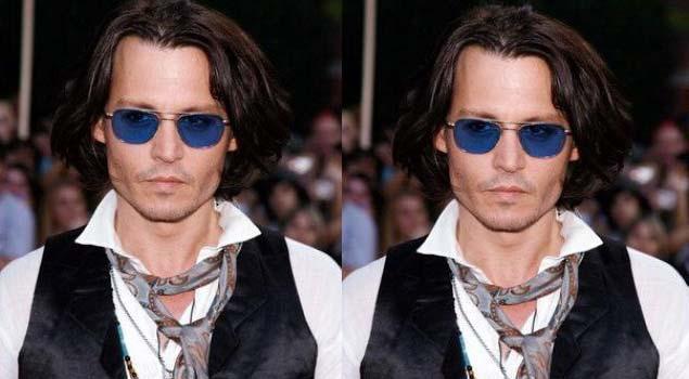 Johnny depp wearing a neck tie