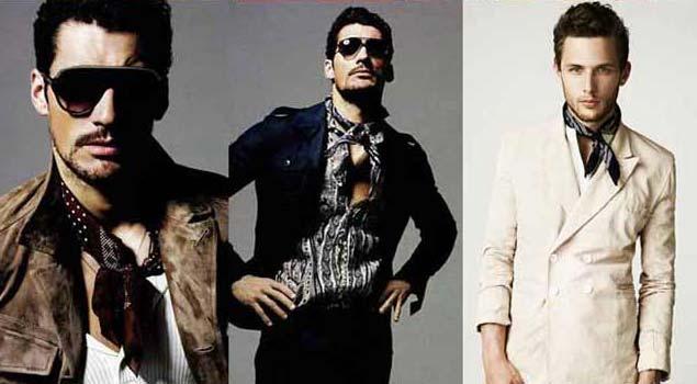 neck tie for men 2012 - David Gandy wearing