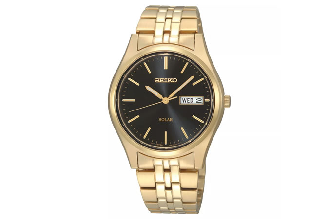 Seiko Men's Gold Plated Stainless Steel