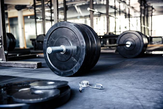 Weights left on gym floor