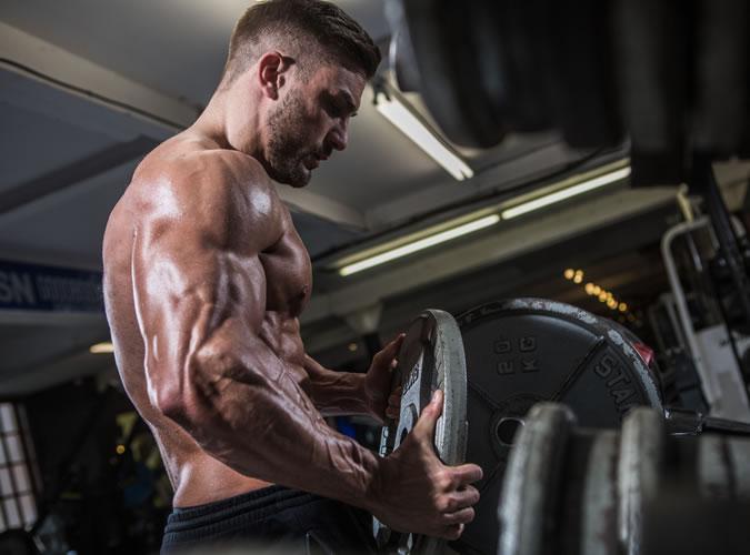 Ryan Terry Doing Shoulder Exercises
