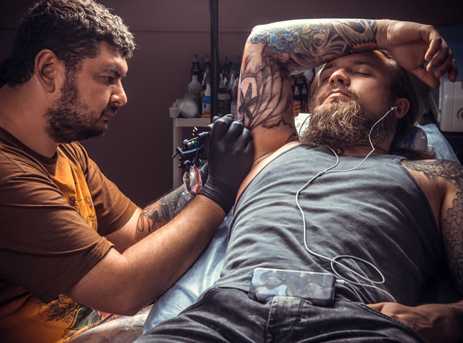 The biggest enemy is in your head, not the tattooer's hand
