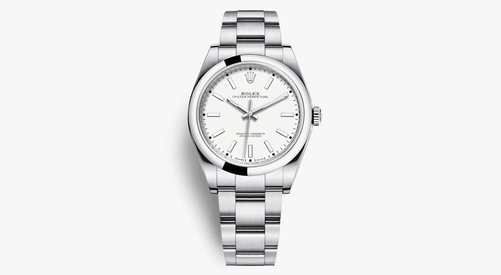 Rolex Oyster Perpetual Ref. 114300 (White Dial)