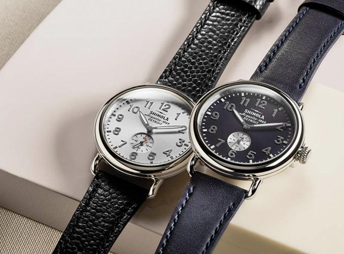 Shinola Leather Strap Watches