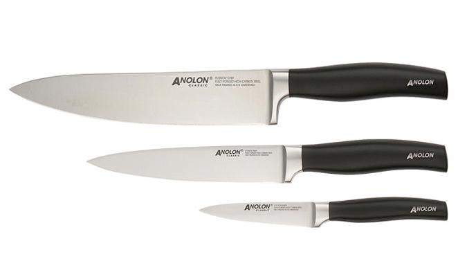Anolon Classic Japanese Stainless Steel Starter Knives