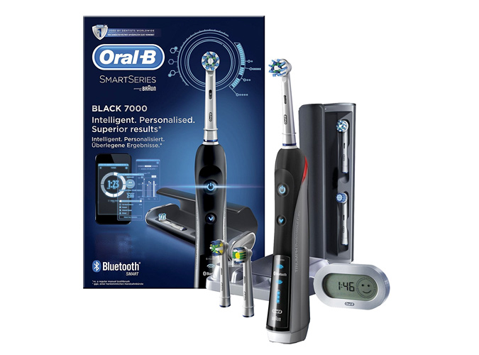 Oral-B Pro 7000 Black SmartSeries Electric Toothbrush with Bluetooth