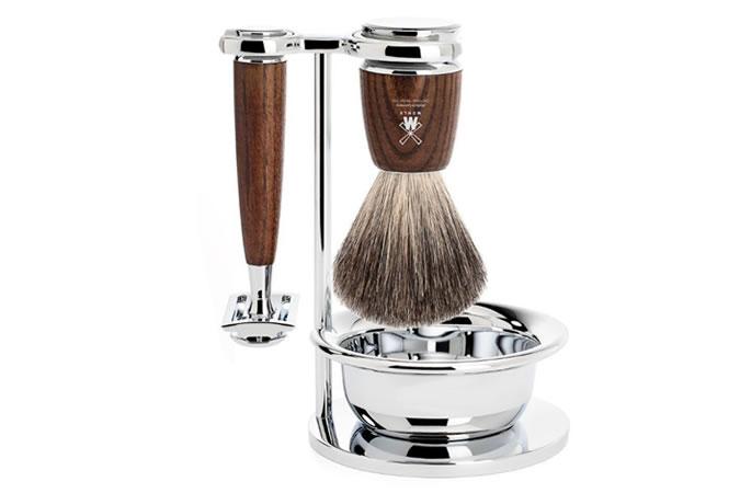 Mühle Rytmo Steamed Ash 4-Piece Shaving Set