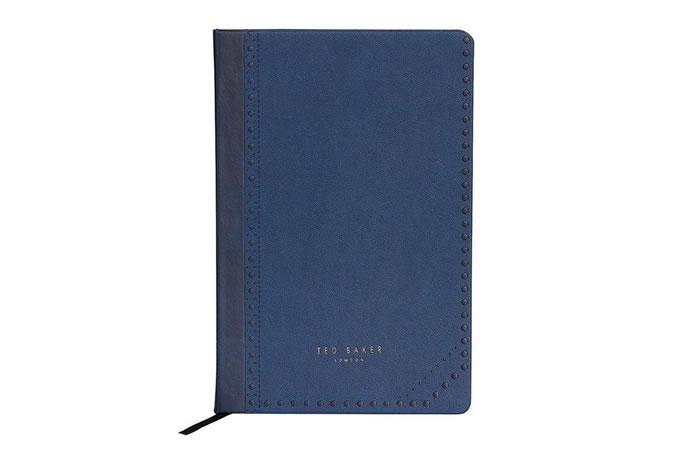 Ted Baker A5 Notebook Blue Brogue Monkian