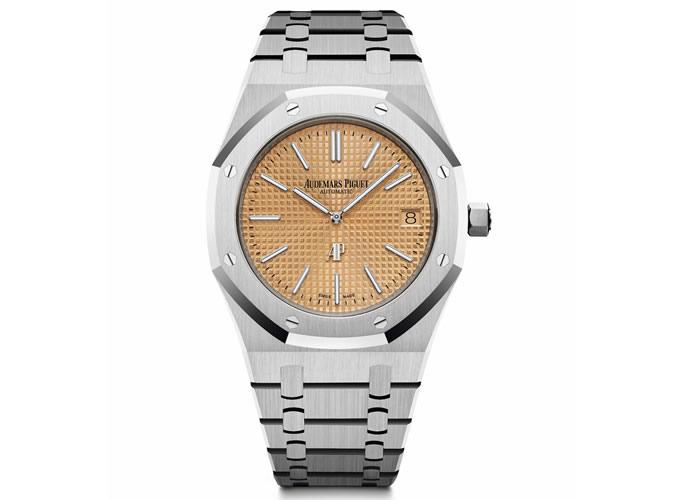 Audemars Piguet Royal Oak Jumbo Extra Thin Pink Gold Dial Watch