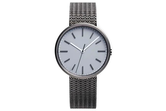 M37 PreciDrive three-hand watch in PVD grey with natural titanium bracelet