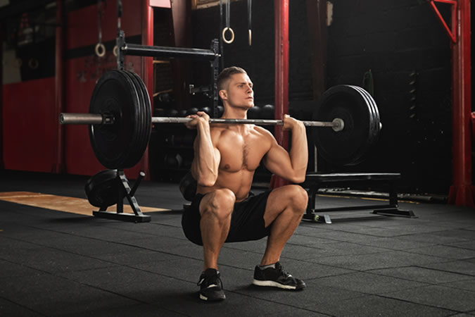 Strong man weightlifting