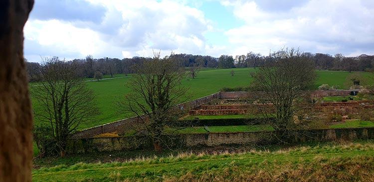 Helmsley Castle garden walls