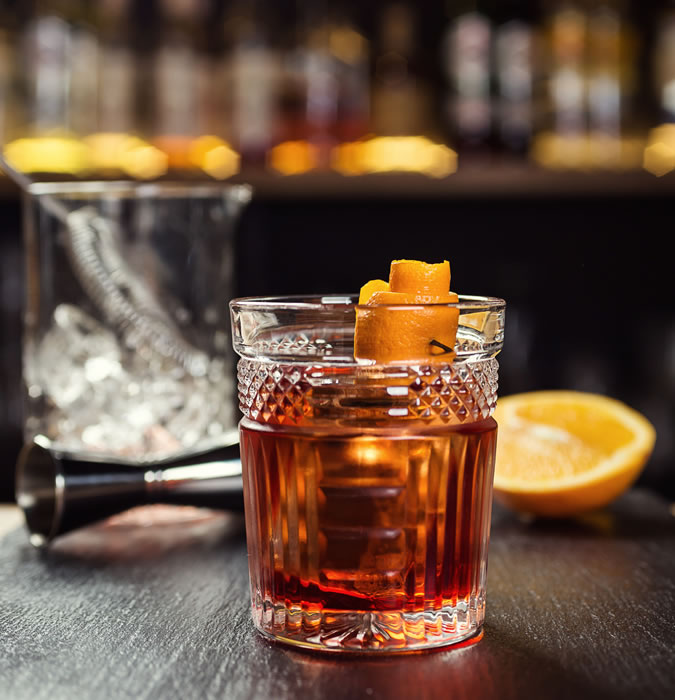 An Old-Fashioned Whiskey Cocktail