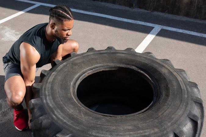 Tyre Flip Exercise