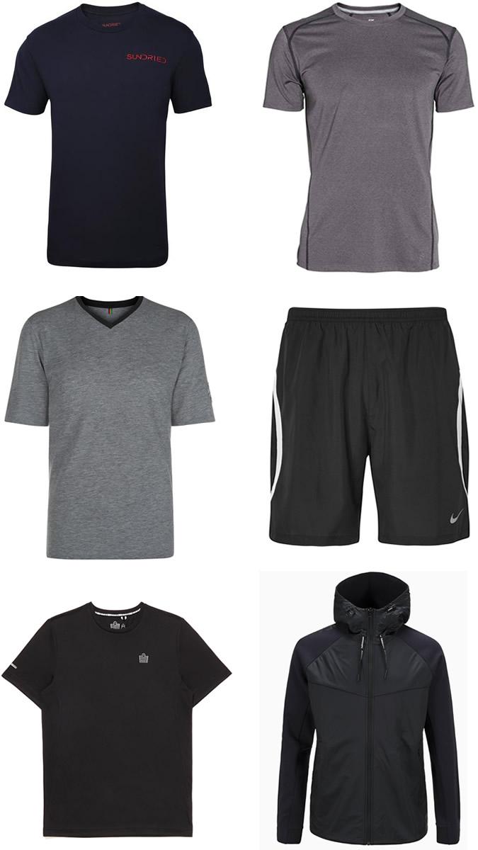 Dark/neutral men's gym kit