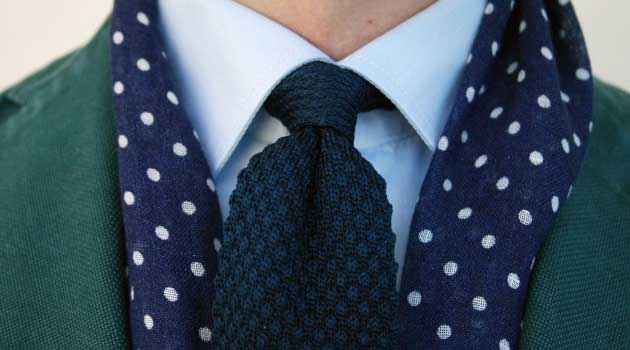 Polka Dots - Blue and White scarf 2013 for men