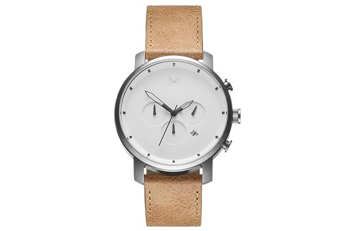 MVMT White Caramel Watch