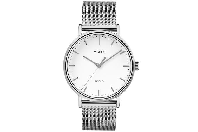 Timex Fairfield Silver Watch