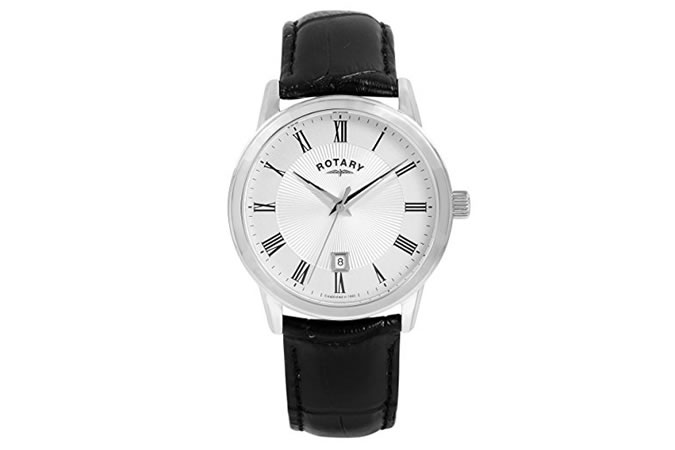Rotary White Dial Analogue Watch