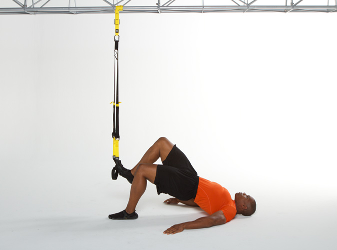 TRX Single Leg Hip Press